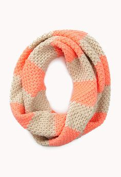 FOREVER 21 Thick Striped Infinity Scarf on shopstyle.com