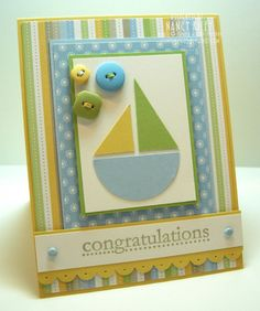 Very cute baby boy card
