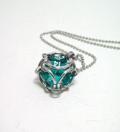 dice necklace, dungeons and dragons, mens necklace, ladies necklace, D20, dice jewelry, $12.00
