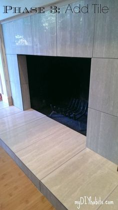 How to tile over a brick fireplace in 2019 new home pinterest brick fireplace brick and tiles - Tiling a brick fireplace ...