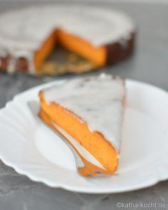 Süßkartoffelkuchen mit Kokosglasur - katha-kocht!