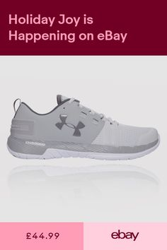 official photos 67b31 834fc Under Armour Mens Commit Training Gym Fitness Shoes Grey Breathable Trainers