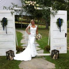 Doors, lanterns, and more to create the perfect outdoor ceremony