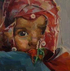 Kashmiri Baby - Original Fine Art for Sale - © Taryn Day