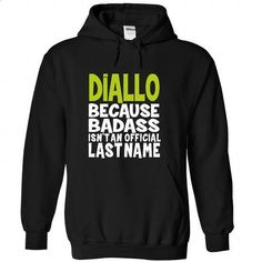 (BadAss) DIALLO - #cheap gift #gift friend. MORE INFO => https://www.sunfrog.com/Names/BadAss-DIALLO-shrehlufov-Black-54449946-Hoodie.html?60505