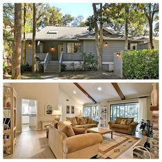 Use Promo Code PERFECTSUMMER to receive 10% off summer rentals! Enjoy a short walk to the beach (just 175 yards) from this three bedroom, two bath West Beach home! 105 Surfscoter overlooks a shady lagoon, and this home has a screened porch and decks with a gas grill. The property accommodates up to eight people with one king, one queen, and two double beds.