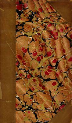 Vintage 19th c. marbled paper, Italian on Turkish Overprinted pattern. via University of Washington