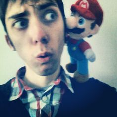 Mario is telling me a secret about his brother Luigi #supermario