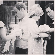 Deja Vu: Kate, William & baby Cambridge; Princess Diana, Prince Charles & Prince William