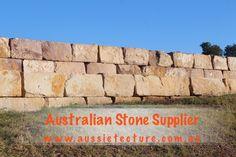 Aussietecture natural stone supplier has a unique range natural stone products for walling, flooring & landscaping. Natural Stone Wall, Natural Stones, Brisbane, Sydney, Landscape Design, Garden Design, Sandstone Paving, Stone Exterior, Stone Supplier
