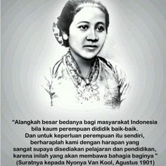 April 21 is Kartini Day! Today is a celebration of Indonesia's heroine, Raden Ajeng Kartini, who paved the path for women's rights and was a strong advocate for education. If it were not for her, girls would have not been able to go to school in Indonesia. Today is not only a celebration of her life and legacy, but also a reminder to continue striving for equality, freedom, and the opportunity to education.  HAPPY KARTINI DAYS..  #happykartinidays