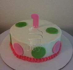 Polka Dot Smash Cake www.cakesbydey.com Check us out on Facebook!