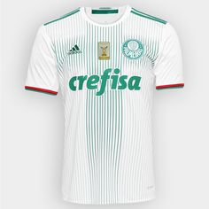 f5ff10dcfe Camisa Adidas Palmeiras II 2016 s nº - Patch Campeão Brasileiro - Branco+ Verde