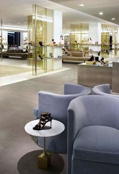 Barney's Madison Avenue, Shoe Floor, New York City designed by Yabu Pushelberg