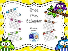 FREE Owl Calendar  Whooooo's enjoying their summer? I hope you are. Here's a fun freebie to make it even more enjoyable.  Just click HERE for your freebie. I'd love to hear what you think.  Hope you enjoy!  3-5 A Teacher's Bag of Tricks blank calendar K-2 owl The Book Bug