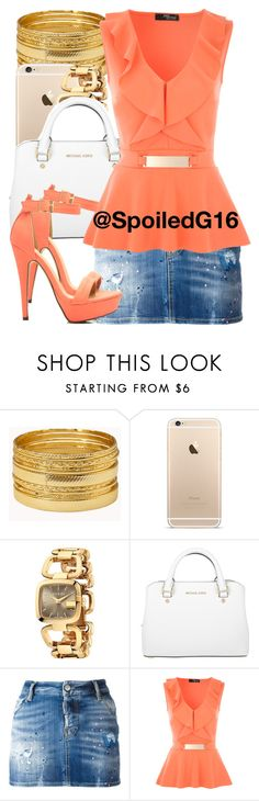 """Beauty…"" by spoiledg16 ❤ liked on Polyvore featuring Forever 21, Gucci, Michael Kors and Dsquared2"