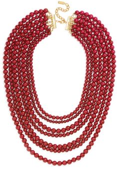 The motif of this necklace is easy enough—just simple shiny beads—but done  up in a lush multi-strand look like this 9d7baaf3b8b4