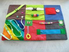 Fidget blanket for dementia blanket Fidget quilt Activity   Etsy Baby Sensory Board, Sensory Boards, Sensory Blanket, Sensory Book, Busy Board Baby, Dementia Activities, Dementia Crafts, Sensory Activities, Fidget Blankets