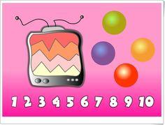"""Recursos Educativos de Educación Infantil: """"La televisión y los números"""" (Digitaleschool.be)"""
