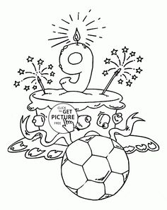 happy 34 birthday coloring pages - photo#37