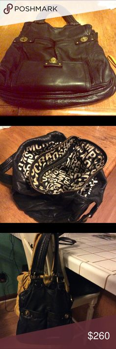 Marc by Marc Jacobs~ w/matching Wallet~EUC Black Authentic Marc by Marc Jacobs Handbag with matching turn lock wallet.  Very nice,great used condition. Normal wear,nothing bad. No rips or tears 💞 Marc by Marc Jacobs Bags Shoulder Bags