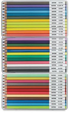 Pantone colored pencils.