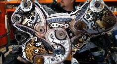 An Audi engine