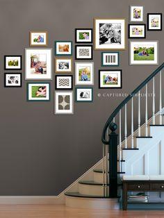 Ideas for Wall Collage on Stairway | Houston Photographer » Houston Children's Photographer
