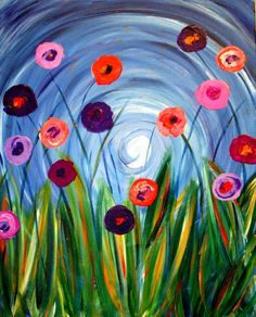 I am going to paint Pixie Petals at Pinot's Palette - Lakewood to discover my inner artist!