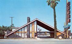 Orange California, Southern California, California Architecture, Orange City, Vintage Hotels, Googie, Old Postcards, Motel, Cool Photos