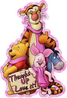 Winnie-the-Pooh & Friends Tigger And Pooh, Winnie The Pooh Friends, Pooh Bear, Disney Winnie The Pooh, Eeyore Pictures, Glitter Gif, Glitter Pictures, Glitter Graphics, Disney Fun