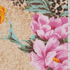 Brown Floral Micro Mesh Knit - 35966 - | Discount By The Yard | Fashion Fabrics