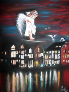 Anioł stróż - AgataiMartyna - Obrazy akrylowe