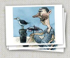 3er Set Sommerfrische Postkarten von Icke von jenapaul auf Etsy