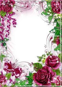 Frame Rose Photo With Images Frame Border Design, Page Borders Design, Photo Frame Design, Frame Floral, Rose Frame, Flower Frame, Happy Birthday Frame, Birthday Frames, Boarders And Frames