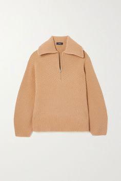 Theory Moving ribbed wool and cashmere-blend sweater Sleeveless Turtleneck, Cropped Cardigan, Slip Skirts, Mini Skirts, Knit Fashion, Girl Fashion, Fashion Advice, Fashion News, Theory Clothing