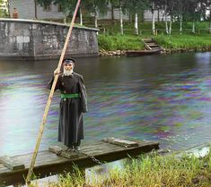 The Final Years of Pre-Soviet Russia, Captured in Glorious Color   inkhus Karlinskii. Eighty-four years old. Sixty-six years of service. Supervisor of Chernigov floodgate.     WIRED.com