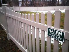 Beige Vinyl Scalloped Picket Fence