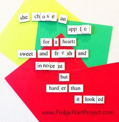 The Daily Magnet #337 Magnetic Poetry; Demagnetize Writer's Block! www.FridgePoetProject.com #writerslife