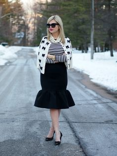 3.14 flutter (Kate Spade cardigan + Ann Taylor shirt + ASOS skirt + Kate Spade pumps + Chanel bag + F21, J Crew necklaces + Celine sunnies + Michael Kors watch)