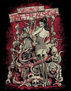 The Horror Project: Freakshow by Brandon-Heart Monster Art, Zombie Monster, Arte Horror, Horror Art, Funny Horror, Dark Fantasy, Fantasy Art, Arte Zombie, Aztecas Art