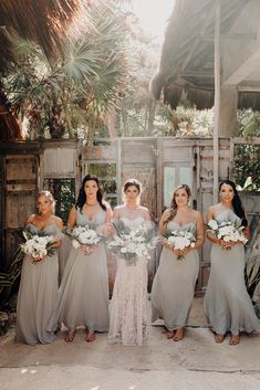 Bridesmaids Squad ∙ Planning, designing by Destination Weddings Tulum ( on IG) Flowers by Moni Junco ( on IG)Makeup & Hairstyle by Dahena ( on IG)