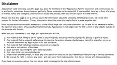 Appalachian State University Disclaimer.