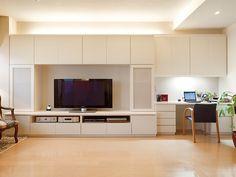 壁面収納 リフォーム 口コミ | マンション リビング 収納 実例 ...