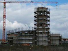 Gibellina, Nanda Vigo, Chiesa di Gesù e Maria (oggi, Centro Sociale) Dirante i lavori di costruzione