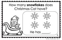 FREE! Counting with Christmas Cat - emergent reader to practice numbers 1-10