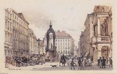 Rudolf Von Alt - der grosse markt an von bis Wien