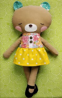 Same as rag doll pattern but made into a bear !