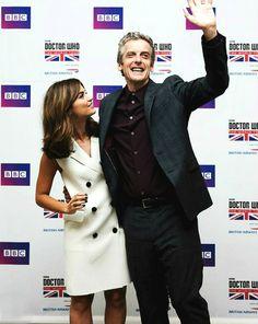 Jenna Coleman and Peter Capaldi at the Doctor Who World Tour in Seoul - 9 August 2014