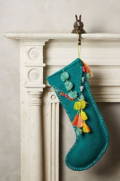 Pom Tassel Stocking - anthropologie.com